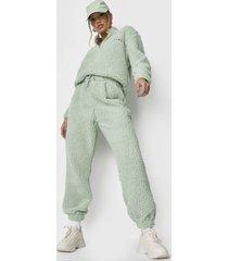 conjunto polerón + jogger missguided verde - calce holgado