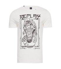 camiseta masculina seven dark days - off white