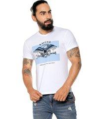 camiseta blanca-multicolor americanino
