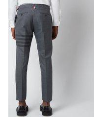 thom browne men's low rise skinny side tab trousers - medium grey - 4/xl