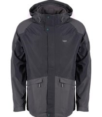 chaqueta tres cruces fusion-3 hoody jacket gris lippi