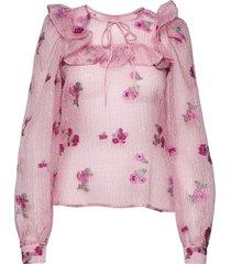 rinda blus långärmad rosa custommade
