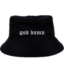 chapéu bucket skull clothing god damn - masculino