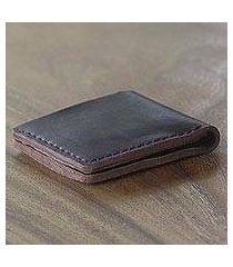 leather wallet, 'malioboro espresso' (indonesia)