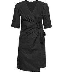 althea ss short dress 11332 knälång klänning svart samsøe samsøe