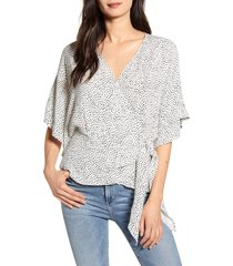 women's chelsea28 wrap front blouse, size x-small - ivory