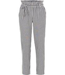 pantaloni effetto lino con elastico in vita (nero) - bodyflirt