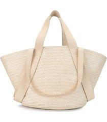 discord yohji yamamoto braided tote bag - neutrals