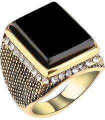 anello con gemello nero