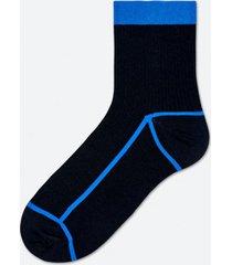 skarpetki lily rib ankle sock black