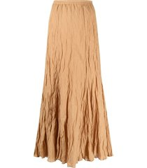 mes demoiselles full-length crinkle-effect skirt - orange