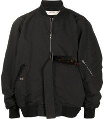 damir doma oversized belted bomber jacket - black