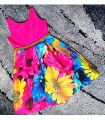 vestido floral patatitas i2222 fucsia