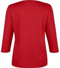 topp med spets och bröstficka dress in röd