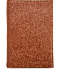 women's longchamp calfskin leather passport case - brown