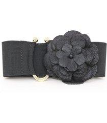 cinto teodora's couro elástico preto