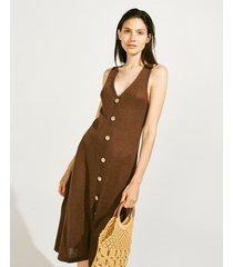 vestido marrón portsaid knitted ibiza