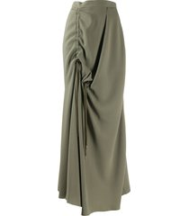 chalayan asymmetric draped skirt - green
