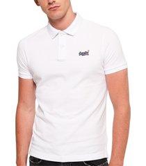 superdry men's classic-fit pique polo shirt