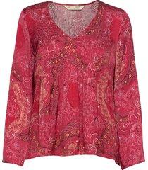amélie blouse blus långärmad röd odd molly