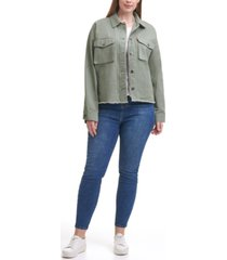 levi's trendy plus size cropped cotton utility jacket