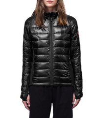 women's canada goose hybridge lite down jacket, size x-small - black
