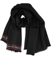 alexander mcqueen logo shawl