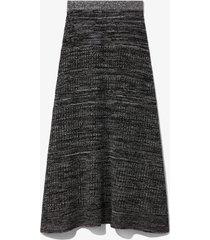 proenza schouler white label cotton silk pique knit skirt black l