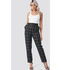 na-kd classic tailored plaid suit pants - black