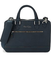 buster faux leather briefcase