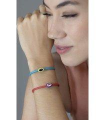 green enamel amethyst bracelet