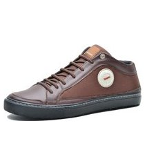 sapatenis casual mr shoes couro marrom