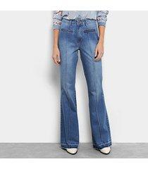 calça jeans flare my favorite thing (s) super high feminina
