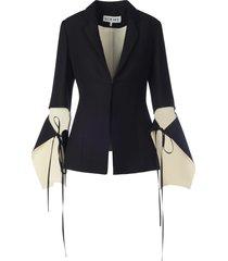 loewe tie cut panel sleeve jacket