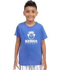 camiseta kings sneakers classic azul - azul - masculino - dafiti