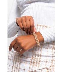 akira crystal cage link chain bracelet
