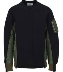 sacai double colour sweatshirt