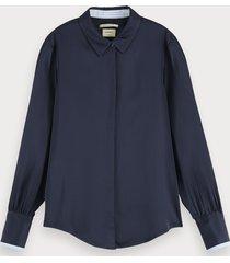 scotch & soda regular fit viscose blouse