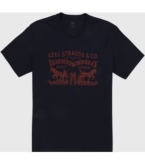 camiseta azul oscuro-rojo levis,