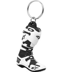 llavero new tech 10 boot blanco alpinestars