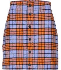 3141mdd23c 217621 kort kjol multi/mönstrad msgm