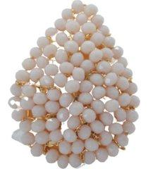 anillo gota baño en oro beige bijulovers