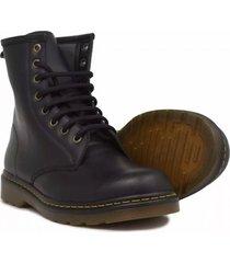 botas botines cuero puchetty liverpool negro