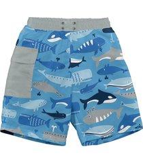 traje de baño con pañal short azul ballena