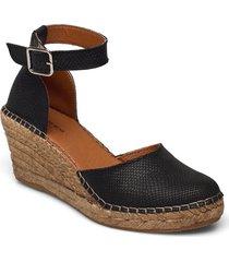 stb-rosemary lizard sandalette med klack espadrilles svart shoe the bear