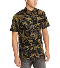 levi's men's furlon palm print short sleeve shirt