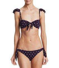 dotty lily bikini top