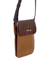 bolsa carteira em couro - feminino