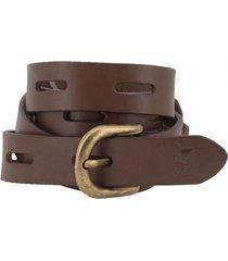 cinturón cuero mujer keva belt marrón cat
