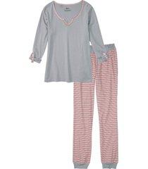 pigiama sostenibile in cotone biologico (argento) - bpc bonprix collection